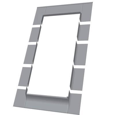 Aluminum Low-Profile Shingle Roof Flashing Kit for Deck Mount Skylight
