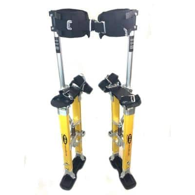 SurPro 24 in. to 40 in. Adjustable Height Single Support Legs Magnesium Drywall Stilts