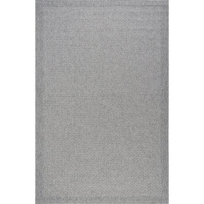 Serenity Gray 7 ft. x 10 ft. Solid Polypropylene Area Rug
