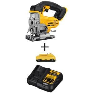20-Volt MAX Cordless Jig Saw with (1) 20-Volt Battery 4.0Ah & Charger