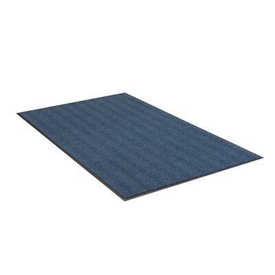 Chevron Rib Slate Blue 3 Ft. x 5 Ft. Commercial Door Mat