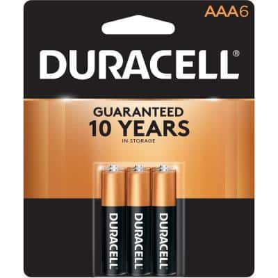 Duracell Coppertop Alkaline AAA Battery (6-Pack)