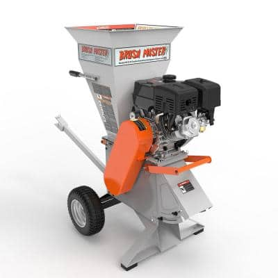 5 in. x 3.5 in. 15HP 420cc Self Feed Gas Chipper Shredder with 120V Electric Start, Trailer Hitch, Gloves, Goggles