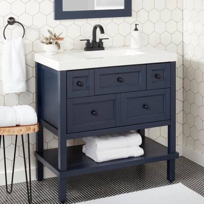 Farrington 4 in. Centerset 2-Handle Hi-Arc Bathroom Faucet in Matte Black