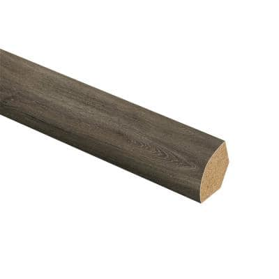 Aged Gunmetal Oak 5/8 in. Thick x 3/4 in. Wide x 94 in. Length Laminate Quarter Round Molding