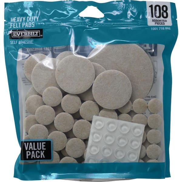 Everbilt Assorted Felt Pads, Pads For Furniture Legs Home Depot