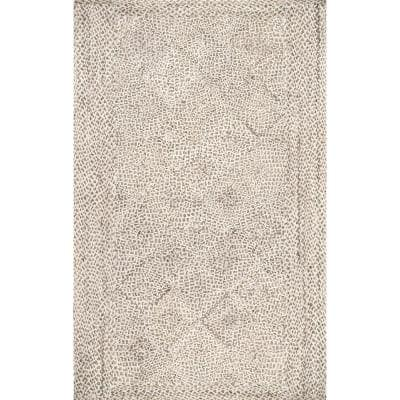 Yvette Trellis Jute Natural 8 ft. x 10 ft. Area Rug