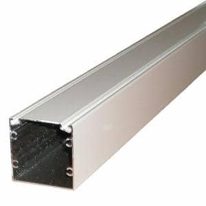 95.25 in. x 2 in. x 2 in. White Screen Room Aluminum Extrusion with Spline Track