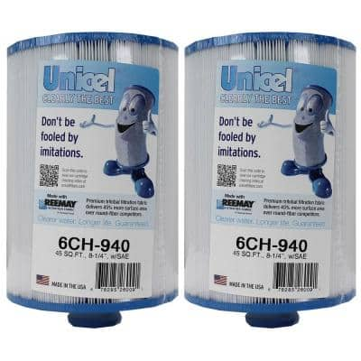 8.25 in. L x 6 in. Dia Replacement Pool Cartridges Filter (2-pack)