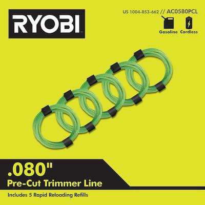 0.080 in. x 16 ft. Pre-Cut Spiral Line (5-Pack)