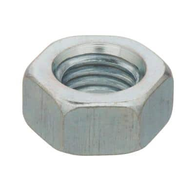 M6-1.0 Zinc-Plated Steel Metric Hex Nuts (2 per Pack)