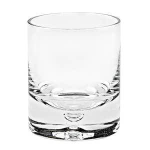 8 oz. Galaxy Gold Old Fashioned Rocks Lead Free Crystal Scotch Glass (4-Piece Set)