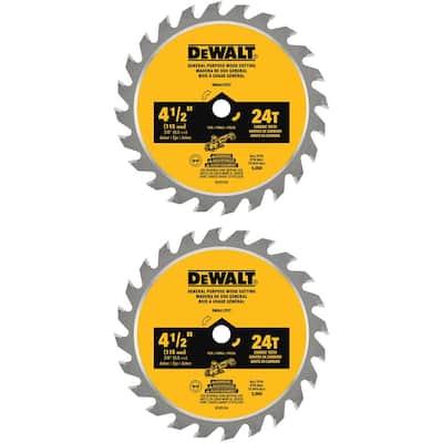 ATOMIC 4-1/2 in. 24-Tooth Circular Saw Blade (2-Pack)