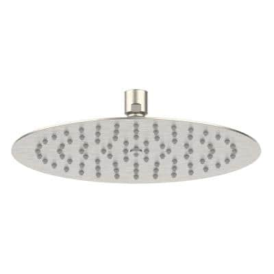Piano 1-Pattern 1.75 GPM 9.84 in. Ceiling Mount Round Shower Head in Brushed Nickel