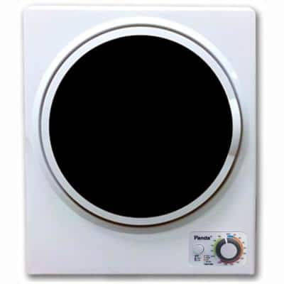 1.50 cu. ft. White and Black Electric Compact Portable Laundry Dryer