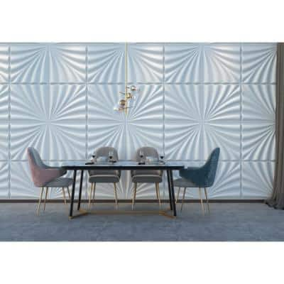 19.6 in. x 19.6 in. x 1 in. Off-White Plant Fiber Samba Design Glue-On Wainscot Wall Panels (10-Pieceper Pack)