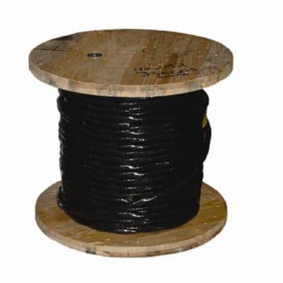 1,000 ft. 4 Black Stranded AL USE-2 Cable