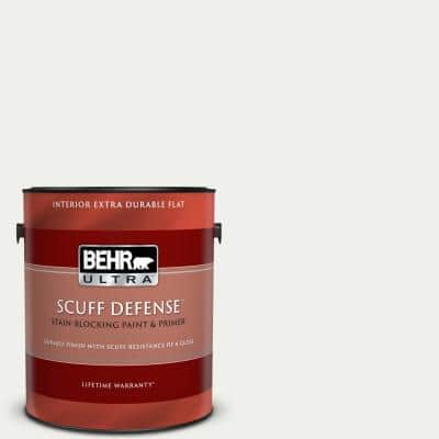 1 gal. #57 Frost Extra Durable Flat Interior Paint & Primer