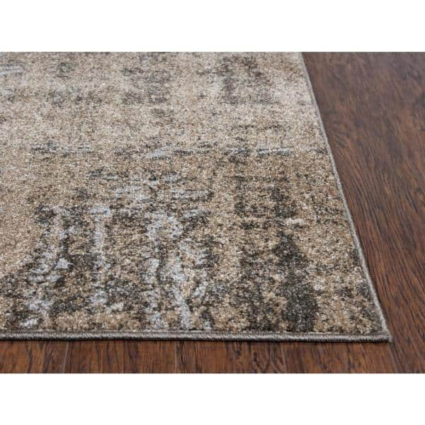 Venice Beige Brown 7 Ft 10 In X 9 Ft 10 In Abstract Area Rug Vicvi100604797109 The Home Depot