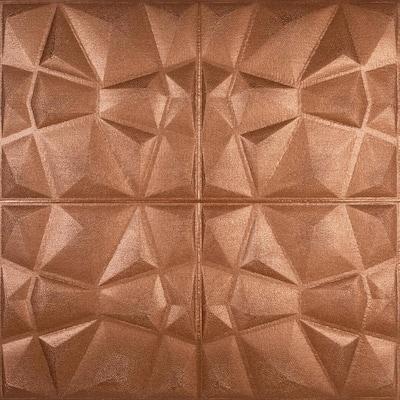 Falkirk Jura II 1/3 in. 28 in. x 28 in. Peel and Stick Copper Bronze Diamond PE Foam Decorative Wall Paneling (10-Pack)