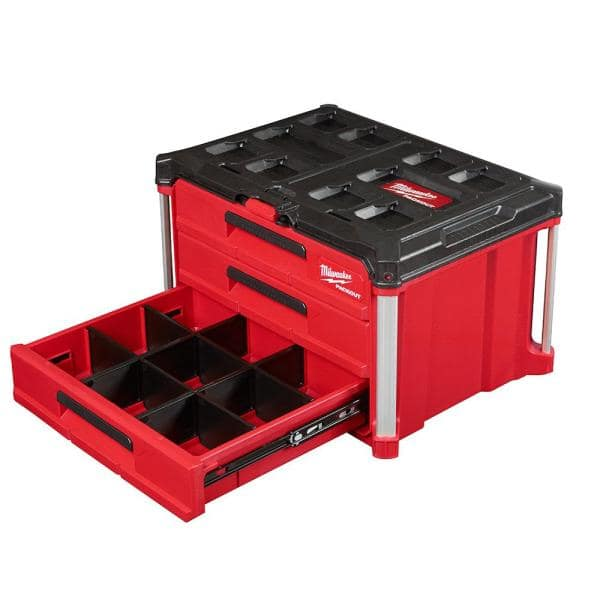 Trolley Boîte //// Boîte à outils Milwaukee packout PROMO-Set 3 pcs incl large box
