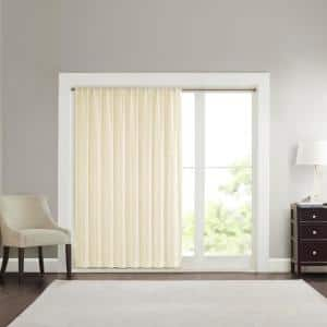 Ivory Abstract Embroidered Rod Pocket Sheer Curtain - 100 in. W x 84 in. L