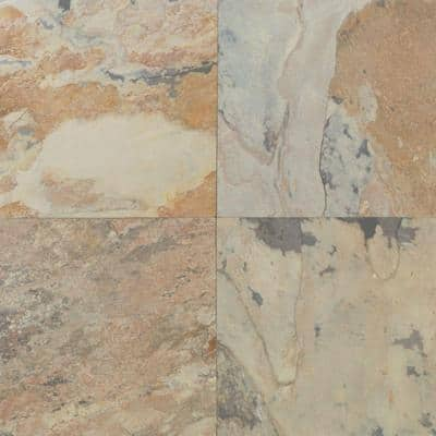 Natural Stone Collection Autumn Mist 16 in. x 16 in. Slate Floor and Wall Tile (10.68 sq. ft. / case)