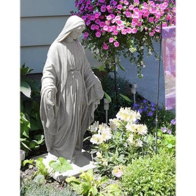 Granite Color High Density Resin Virgin Mary Statue