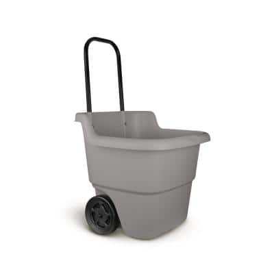 15 Gal. Portable Resin Gray Lawn Cart