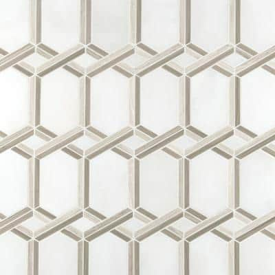 Royal Link 13 in. x 11.81 in. x 10mm Polished Marble Mesh-Mounted Mosaic Tile (10.7 sq. ft. / case)