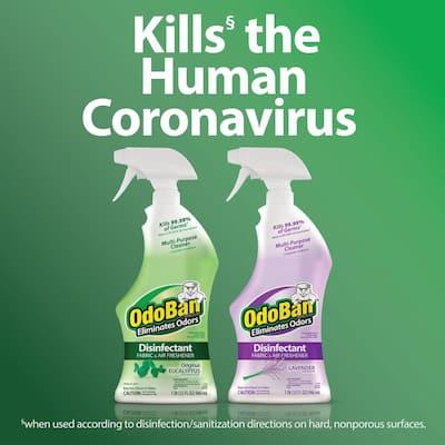 32 oz. Lavender Disinfectant Spray, Odor Eliminator, Sanitizer, Fabric Freshener, Mold Control, Multi-Purpose (6-Pack)