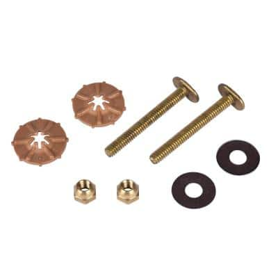 Johni-Quick 1/4 in. x 2-1/4 in. Brass Toilet Bolts
