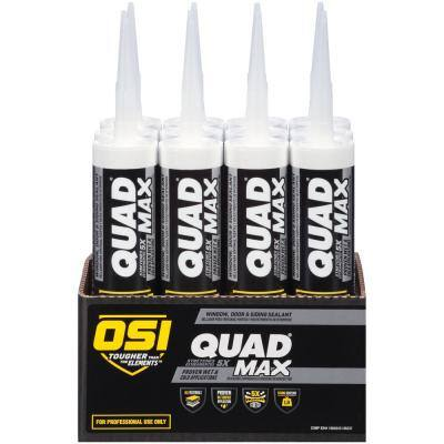 QUAD Max 9.5 fl. oz. Clay #320 Exterior/Interior Window Door and Siding Sealant (12-Pack)