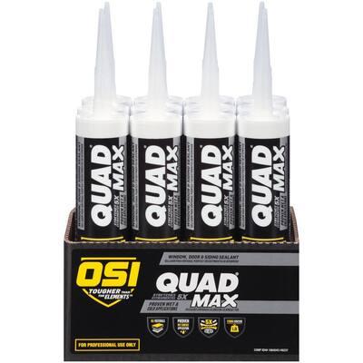 QUAD Max 9.5 fl. oz. Red #932 Exterior/Interior Window Door and Siding Sealant (12-Pack)