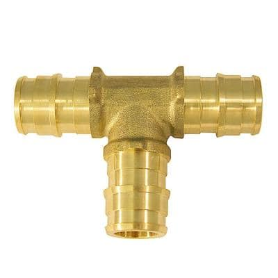 1/2 in. Brass PEX-A Barb Tee Fitting