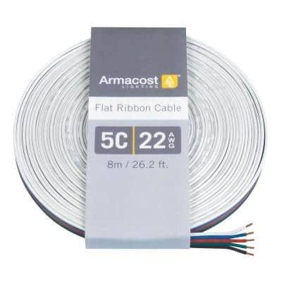 24 ft. (8 m) 22 AAWG/5C Ribbon Flat Cable