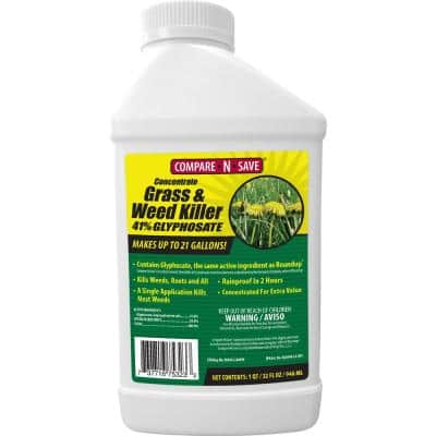 32 oz. Grass And Weed Killer Glyphosate Concentrate