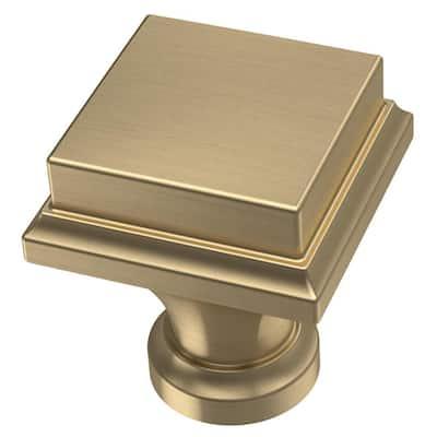 Regal Square 1 in. (25 mm) Champagne Bronze Cabinet Knob (10-Pack)