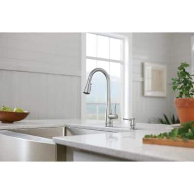 Birchfield Single-Handle Pull-Down Sprayer Kitchen Faucet with Reflex and PowerBoost in Spot Resist Stainless