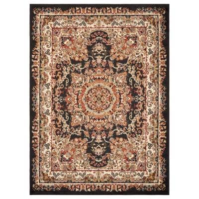 Persian Black Area Rugs Rugs The Home Depot