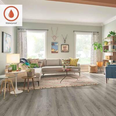 Outlast+ 7.48 in. W Cashmere Oak Waterproof Laminate Wood Flooring (19.63 sq. ft./case)