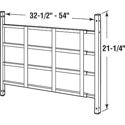 31 in. to 54 in. x 21-1/2 in. Steel Black 4-Bar Fixed Window Guard NON-EGRESS