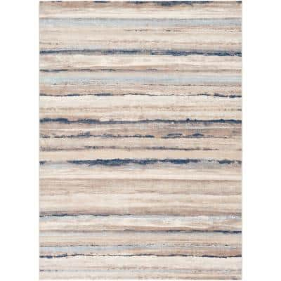 Furaha Navy 9 ft. x 12 ft. 3 in. Abstract Area Rug