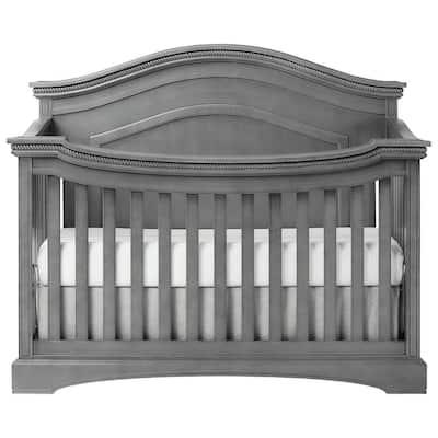 Adora Storm Grey Curve Top Convertible Crib