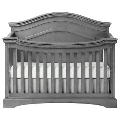 Adora Storm Grey Curve Top Convertible Crib