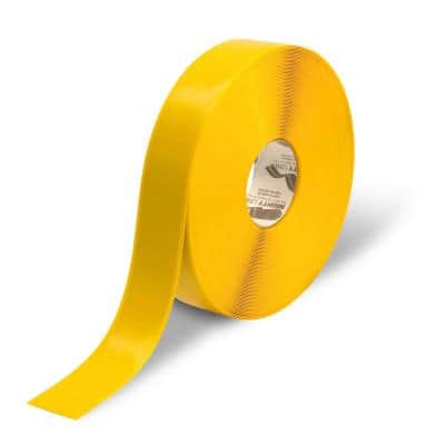 2 in. Safety Floor Tape in Yellow 100 ft. Roll