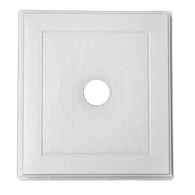 7.13 in. x 7.88 in. Universal Mounting Block in White