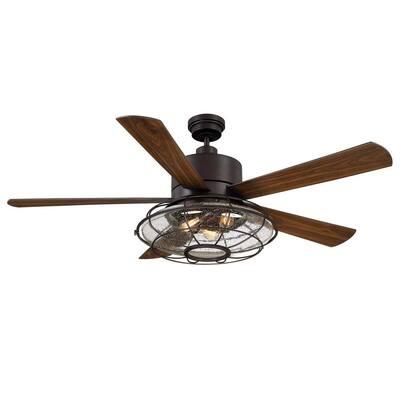 56 in. English Bronze Ceiling Fan