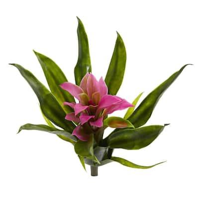 10 in. Bromeliad Artificial Flower Stem (Set of 6)