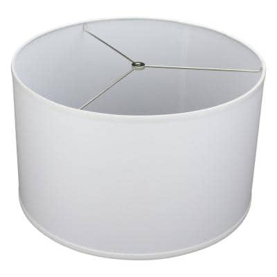 Fenchel Shades 18 in. Top Diameter x 18 in. Bottom Diameter x 12 in. Height Drum Lamp Shade - Linen White